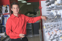 Hardware store employee Stock Images