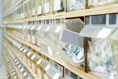 Hardware store shelves Royalty Free Stock Photo