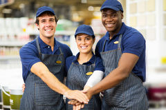 Hardware store team Stock Images