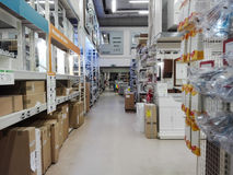 Hardware Store. Various articles of furniture for the bathroom in a large store in Rome Stock Photography