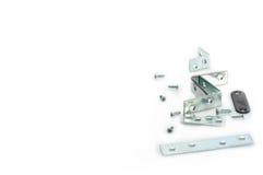 Hardware Tang Pieces e parafusos Fotografia de Stock Royalty Free