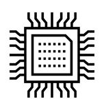 Hardware icon. Hardware thin line icon royalty free illustration