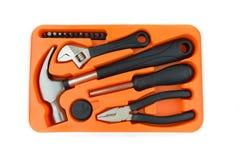 Hardware tool set  hammer screwdriver wrench Stock Photo