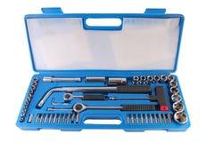 Hardware tools. Home equipment toolbox - hardware tools Stock Photos