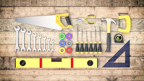 Hardware tools, concept of diy Royalty Free Stock Photo