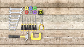 Hardware tools, concept of diy Royalty Free Stock Photography