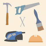 Hardware Tools Icons Vector Illustration Royalty Free Stock Photos