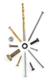 Hardware tools on white Royalty Free Stock Images