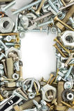 Hardware tools on white Stock Image