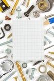 Hardware tools on white Royalty Free Stock Photo