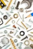 Hardware tools on white Royalty Free Stock Photos
