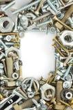 Hardware-Werkzeuge auf Weiß Stockbild