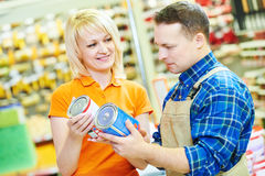 Hardwarer store worker or buyer Stock Photos
