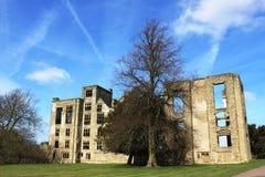 Καταστροφές της παλαιάς αίθουσας Hardwick, Derbyshire, Αγγλία Στοκ εικόνα με δικαίωμα ελεύθερης χρήσης