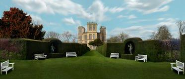 Hardwick Hall a entouré par la verdure photographie stock libre de droits