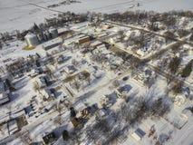 Hardwick, Minnesota in Winter with Wind Turbines stock images