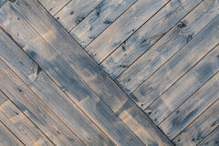 Hardwood black wooden fence. background, texture. Royalty Free Stock Image