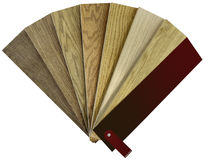 Hardwood Color Swatch Royalty Free Stock Photo