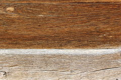 Hardwood on facade of old church Royalty Free Stock Photography