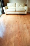 Hardwood floor. In new house Royalty Free Stock Images
