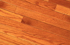 Hardwood floor. Newly installed oak hardwood floor at home stock photo