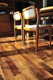 Hardwood floor. Hardwood walnut floor in residential home dining room Stock Photography