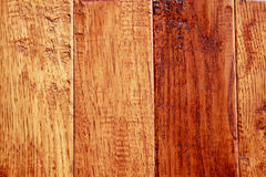 Hardwood Floor Boards. Hickory hardwood floor boards with a distressed texture and rustic appearance royalty free stock photos