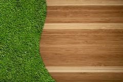 Hardwood Floor and Grass Stock Photos
