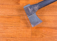 Hardwood floor installation Stock Image