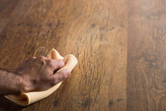 Hardwood floor manteinance Stock Image