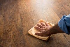 Hardwood floor manteinance Stock Photography