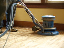 Hardwood floor sanding Stock Photos