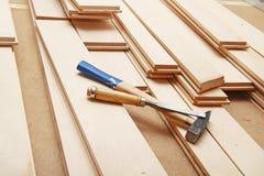 Hardwood flooring Royalty Free Stock Image