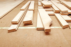 Hardwood flooring Royalty Free Stock Photography