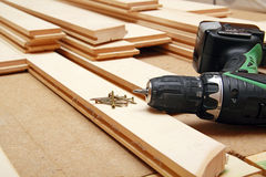 Hardwood flooring Royalty Free Stock Photo