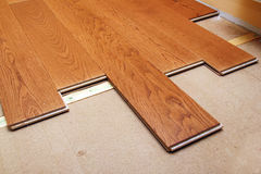 Hardwood flooring Stock Images