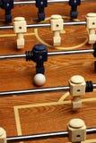 Hardwood Foosball Table Game. Hardwood Foosball table with ball Royalty Free Stock Photos