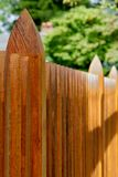 Hardwood Machined Fence Royalty Free Stock Photo