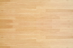 Hardwood maple basketball court floor viewed from above.  Royalty Free Stock Photos
