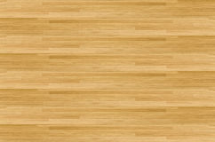 Hardwood maple basketball court floor viewed from above Stock Photography