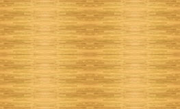 Hardwood maple basketball court floor viewed from above. Stock Image