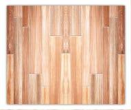 Hardwood maple basketball court floor Royalty Free Stock Images
