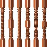 Hardwood spindles Stock Image