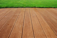 Hardwood terrace Stock Image