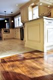 Hardwood  and tile floor Stock Image