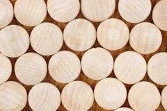Hardwood wood plugs Stock Photos