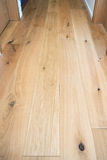 Hardwood wooden floor. In a modern house Royalty Free Stock Photos