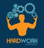 Hardwork design Stock Photo