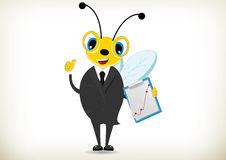 Hardworking Bee Royalty Free Stock Images