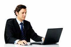 Hardworking businessman Stock Photography
